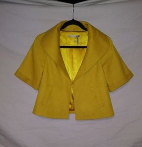 Classiques Entier Canary Yellow Cropped Blazer